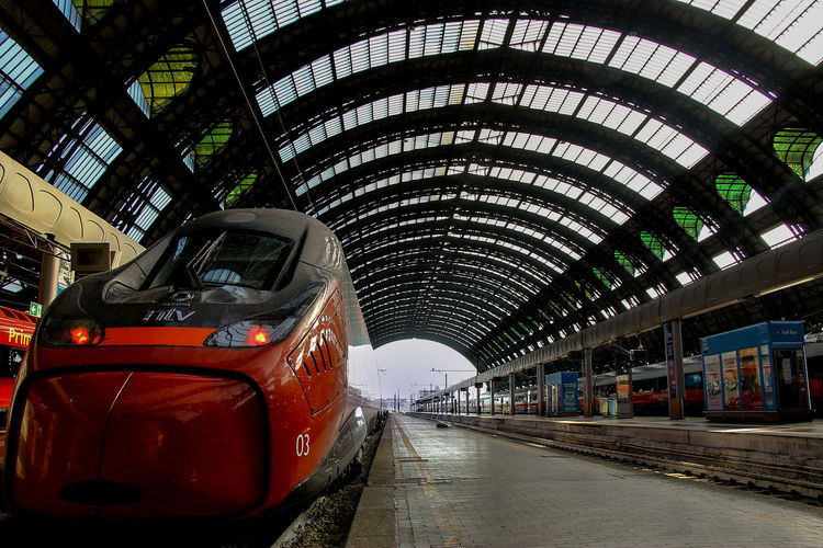 Milano Milan,Italy Red Train Architecture High Speed Train Italo Central Station City Architecture Built Structure The Traveler - 2018 EyeEm Awards Commuter Train Train Interior Metro Train Subway Train Commuter Subway Platform Train Passenger Train Office Building Station Locomotive