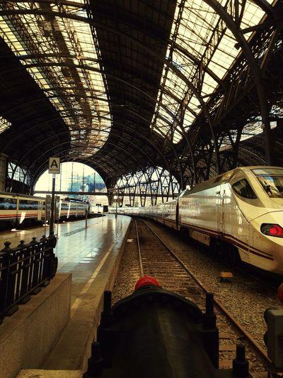 Barcelona Public Transportation Train Station Estació De França