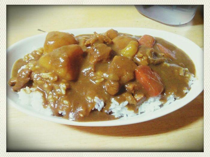 今日の夕飯(・ω・)。カレーライス。 Food Japanese Curry カレーライス Foodphotography
