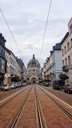 Sun Day City Outdoors Built Structure Cloud - Sky Modern Architecture Sky Bruxelles Brussels Church Architecture Statue State Tram Stop Tram Ways