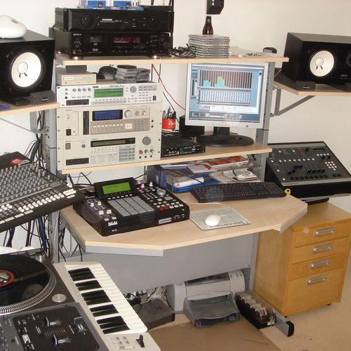 Homestudio  Oldschool Setup HipHop Music SP1200 Mpc2500 Cubase SL1200 Technics