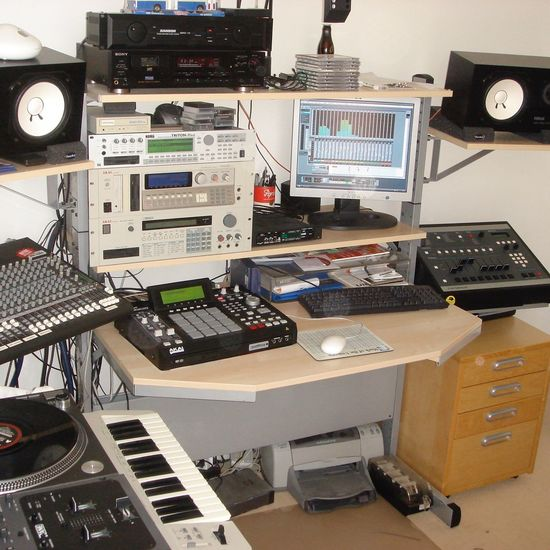 Homestudio  Oldschool Setup HipHop Music SP1200 Mpc2500 Cubase SL1200 Technics