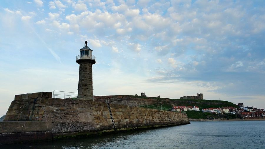 Lighthouse Sky Outdoors Travel Destinations Yorkshire Whitby Whitby Sea Cloud - Sky Boat Trip Sailing!