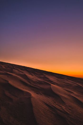 The desert Sunset Sand Beautiful Tones Sky Dreamy Desert Sky Scenics - Nature Landscape Tranquility Environment Tranquil Scene Beauty In Nature Clear Sky Idyllic Non-urban Scene Land Sunset Nature No People Horizon Desert Outdoors Copy Space Field Sand