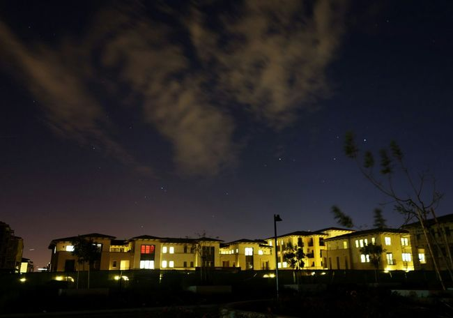Nightphotography Apartments Sunset Sky And Clouds