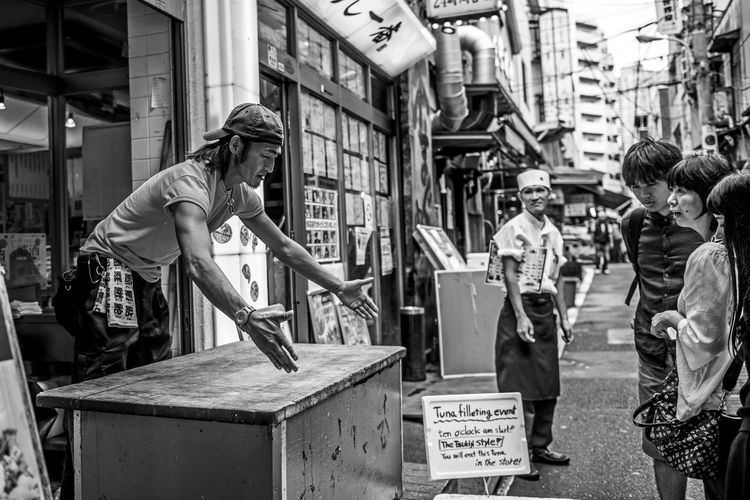 """Tuna Event"" Black & White Black And White Blackandwhite Blackandwhite Photography Market Street Street Photography Streetphoto_bw Streetphotography Tsukiji Outer Market Tuna Tunafish Stories From The City"