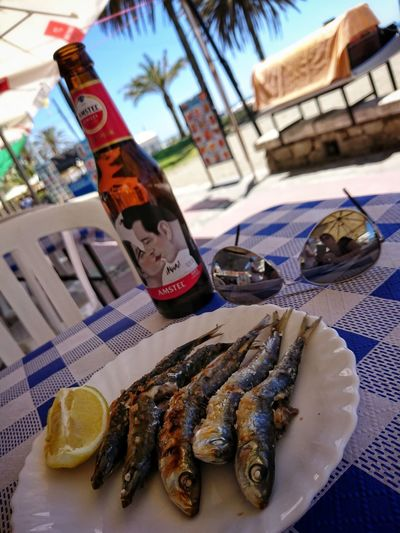 Outdoors Food And Drink Day No People Food Freshness Nature Eyeemphotography Nature_collection Capture The Moment EyeEm Gallery Mobile Photography Textures And Surfaces Sky Water Sardinas Espetos Delicious Mencanta