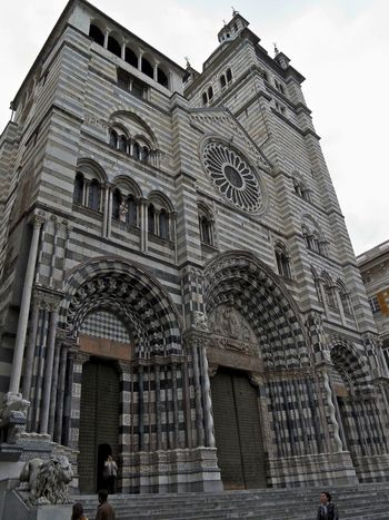 Arch Architecture Building Exterior Built Structure Cathedral Church Day Façade History Men One Person Outdoors People Place Of Worship Real People Sky Travel Destinations