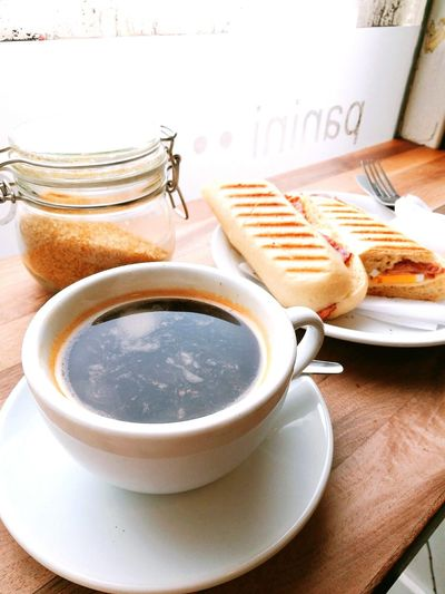 Wonderful breakfast Coffee ☕ Edinburgh Breakfast ♥ Indoors