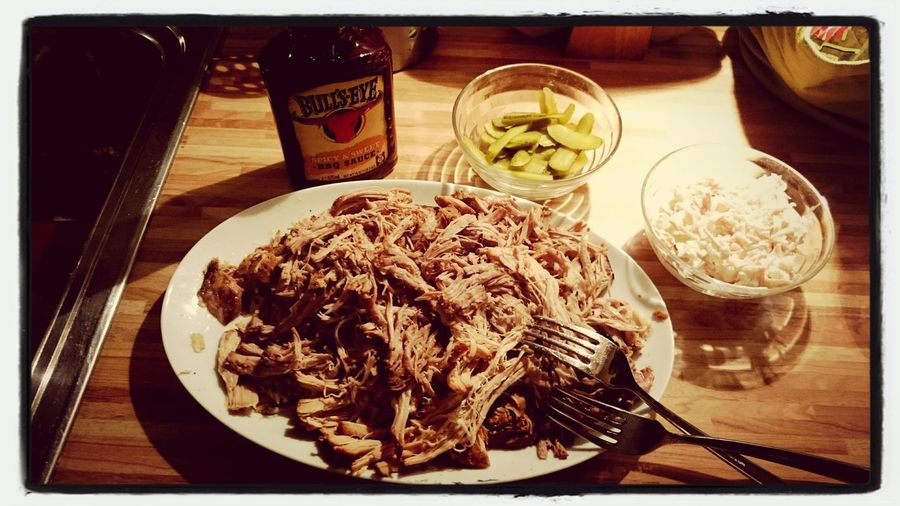 First pulled pork in my new slow cooker Enjoying A Meal First Eyeem Photo