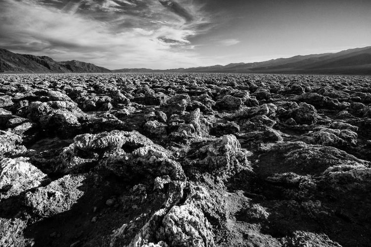 Death Valley Blackandwhite Black And White Black & White Clouds And Sky Devils Golf Course