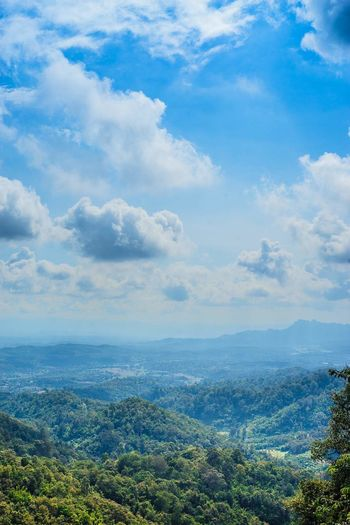 EyeEm Selects Cloud - Sky Forest Mountain Blue Mountain Range Nature Sky Scenics Outdoors Plant Landscape Rural Scene Agriculture Mountain Peak Green Color Summer Day No People Beauty In Nature Tree
