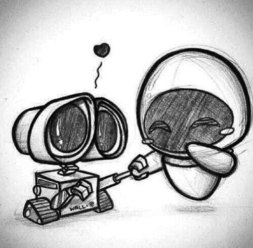 Wall E MOVIE Cute Love Disney Favourite Makesmyheartmelt