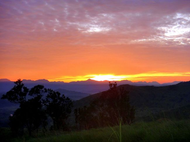 Tranquility Tranquil Scene Sunrise EyeEmNewHere A New Beginning Mountain Mountain Range Hiking Outdoors Astronomy Tree Space Mountain Sunset Galaxy Multi Colored Forest Horizon Atmospheric Mood Moody Sky Romantic Sky Cloudscape Stratosphere Cumulus Cumulonimbus