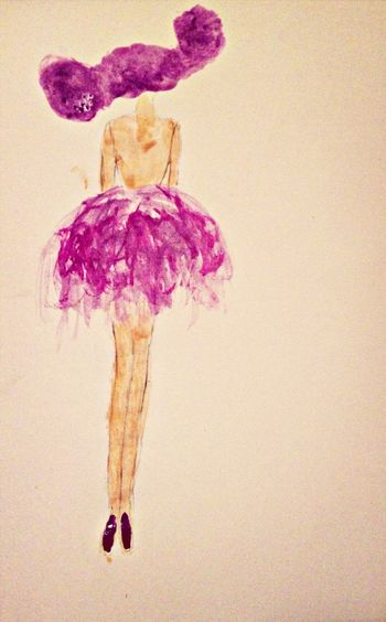 Fashion Drawing Pink Hello World