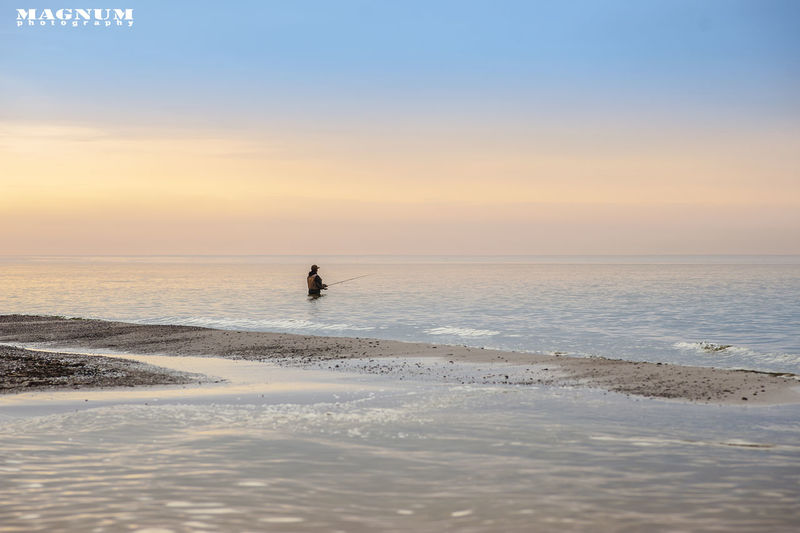 MAGNUM Photography Fishing Sunset Sea Sea And Sky Beautiful Time Phorographer Gryfice