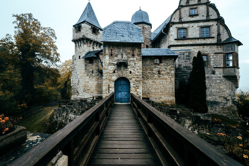 My last impression from this little sweet castle Architecture Autumn Autumn Colors Beautiful Bridge Building Exterior Built Structure Castle Cold Cold Days Day Door Doorway No People Outdoors Point Of View Rainy Days Sky The Way Forward Travel Travel Destinations Traveling Tree Walk This Way Way
