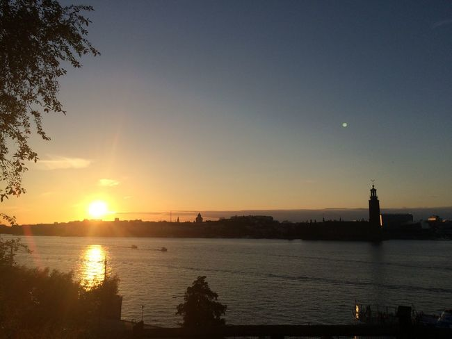 Soaking Up The Sun Sunset in Stockholm Sweden Swedish Summer Relaxing Taking Photos Smoke Weed
