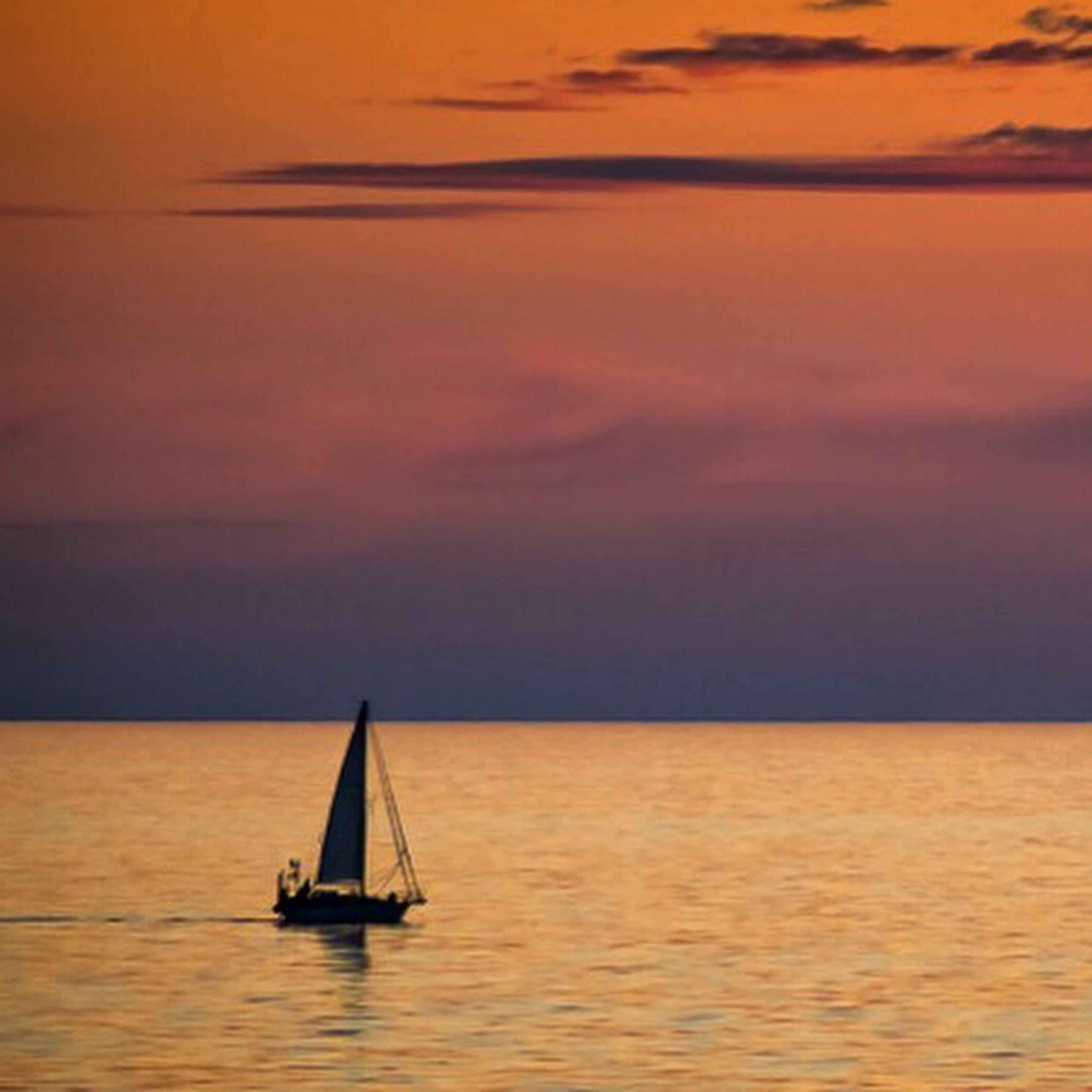 sunset, water, nautical vessel, sea, waterfront, boat, orange color, transportation, tranquil scene, tranquility, scenics, beauty in nature, mode of transport, horizon over water, sky, idyllic, nature, rippled, reflection, sailing