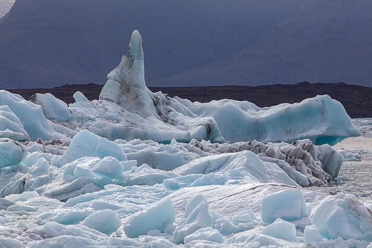 Scenic View Of Glacier Lagoon