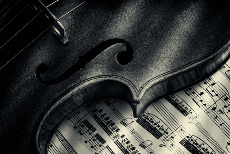 Close up of an old Violin Arts Culture And Entertainment Close-up Communication High Angle View Indoors  Music Musical Equipment Musical Instrument Musical Note No People Old Paper Sheet Sheet Music Single Object Still Life Text Violin