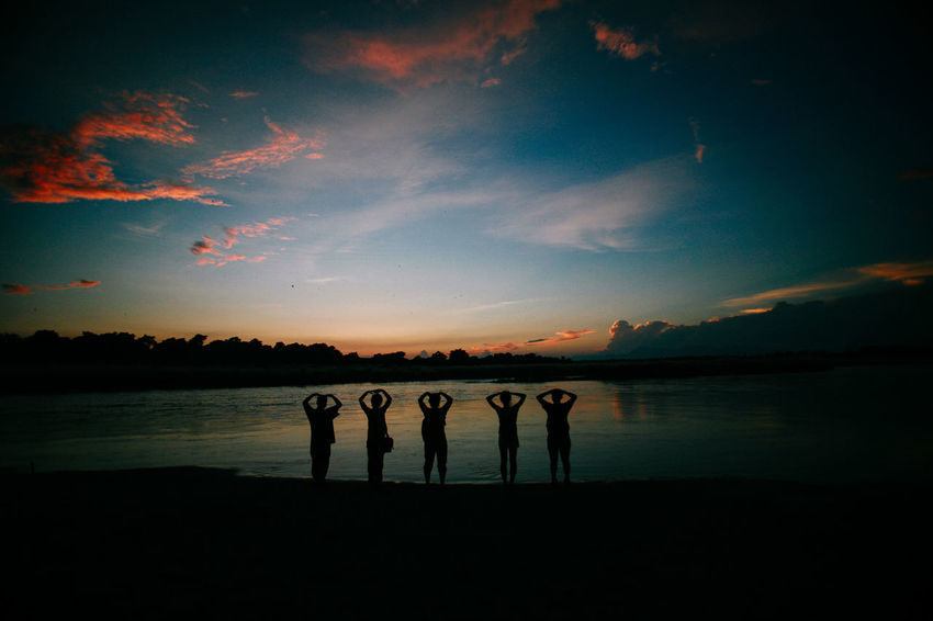 Nepal Chitwan Lost In The Landscape Beauty In Nature Childhood Day Friendship Lake Nature No People Outdoors Scenics Silhouette Sky Sunset Togetherness Tranquility Water