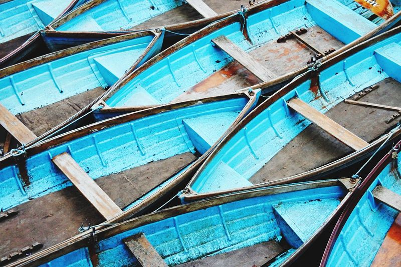 Punts in Oxford Full Frame Large Group Of Objects Outdoors No People Variation Day Backgrounds Close-up Pattern Man Made Object Riverside Flying High