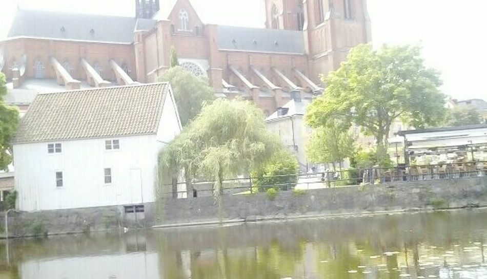 Church Summer2015 Summertime Summer Trees Sky Warm Sunny Sunny Day Building Buildings Old Buildings Old House Uppsala Domkyrka Uppsala, Sweden i Uppsala Water River
