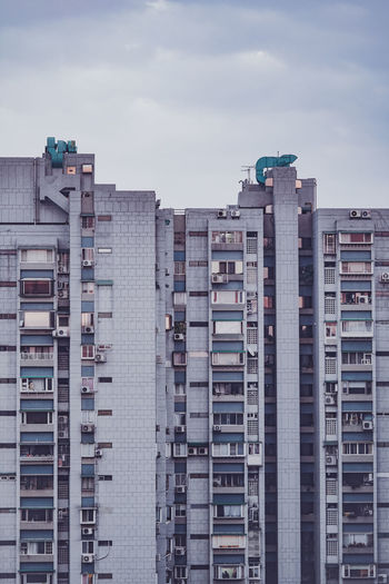 Residential buildings against sky