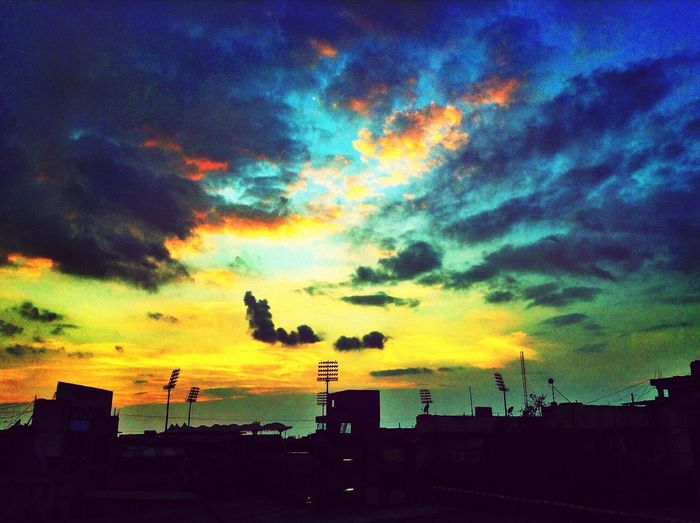 The sun goes down, the stars come out. Thats it :P Sunset Sunset_collection :D