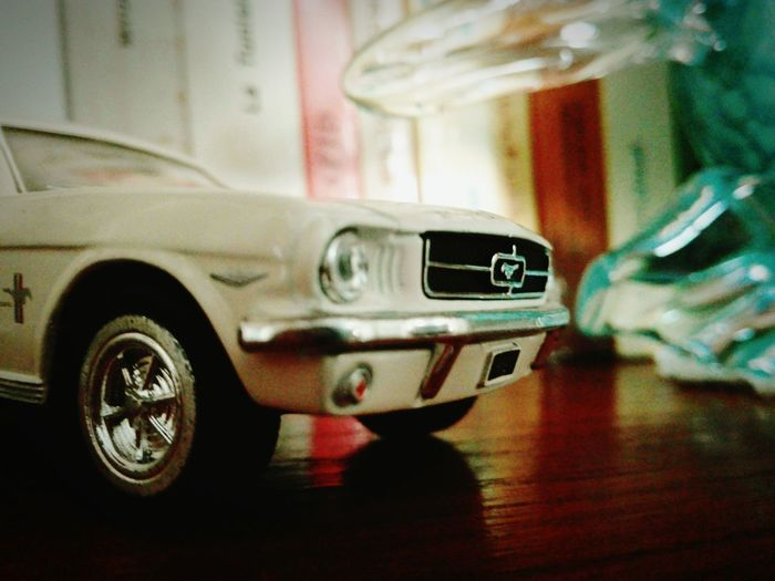 Indoors  Souvenirs Home Sweet Home Mechanical Mode Of Transport No People Ford Mustang Cars Mignature Taking Photo Low Angle View