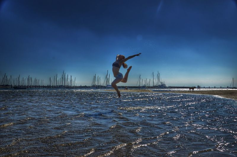 Dancing on water Enjoying Life Sea And Sky Beach Photography Beach Life Melbourne Australia Australianbeaches Hello World