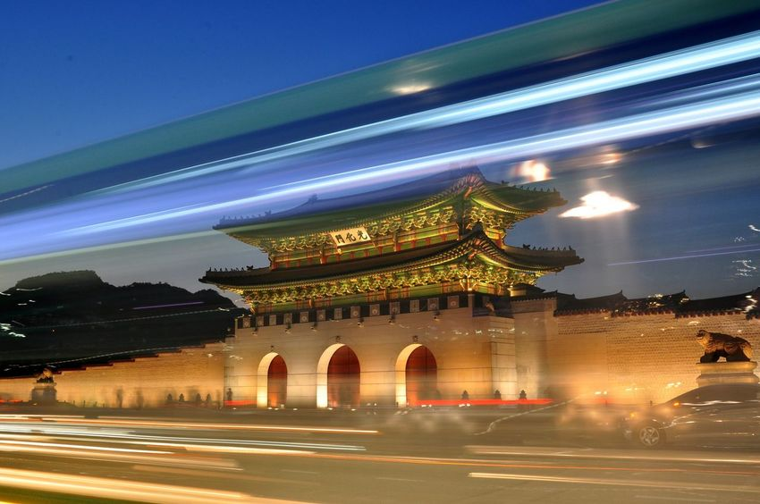 광화문야경 Seoul, Korea Photopackers Oksk Illuminated Architecture Built Structure Building Exterior Night Travel Destinations City Travel