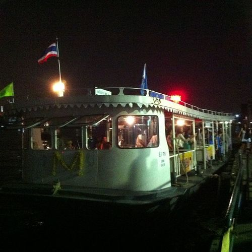 Ferry docking on the pier