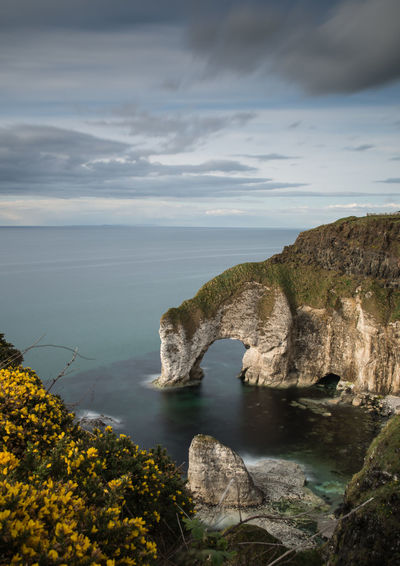 Scenic view of sea in northern ireland
