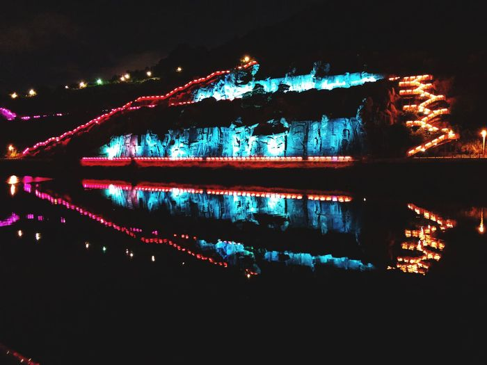 아라뱃길 Illuminated Night Water Reflection No People Architecture Nature