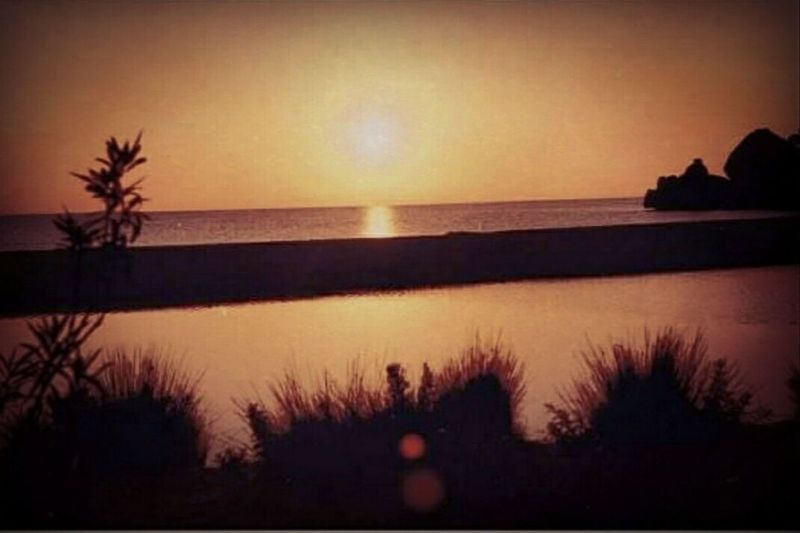 Tramonto Nature Horizon Over Water Beauty In Nature Tranquility No People Beach Sky Sunset