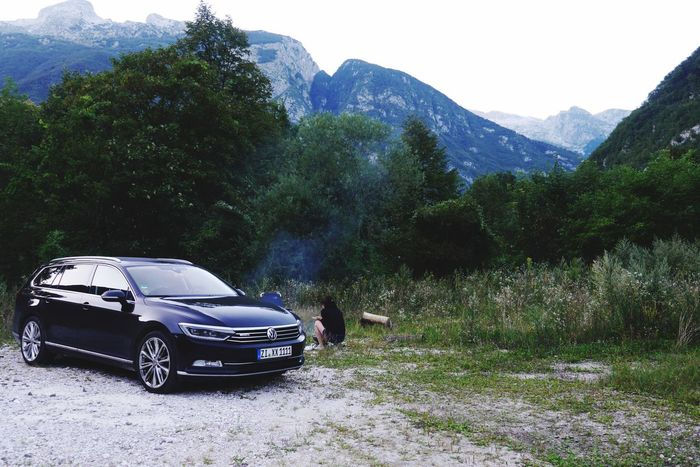Car Day Nature Outdoors Mountain Tree VW Passat Volkswagen Beauty In Nature EyeEm Diversity Wildlife EyeEmBestPics Soca Slowenia Slowenien