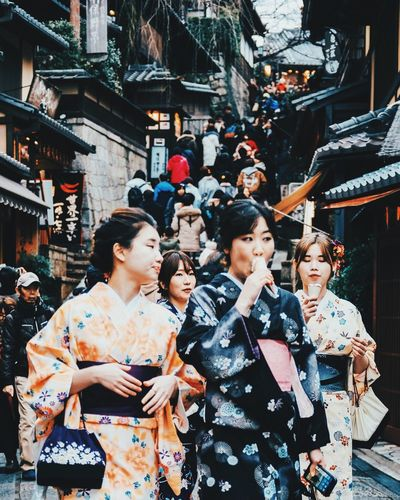 Nothing like ice cream cones in winter weather. First Eyeem Photo EyeEmNewHere Miles Away Kimono Japan Streetfashion Streetphotography EyeEmNewHere Miles Away
