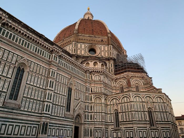 Florence Cathedral Florence Italy Architecture Built Structure Religion Belief Sky Spirituality Building Travel Destinations Low Angle View Place Of Worship Travel Building Exterior Tourism City Dome The Past Ornate No People History Clear Sky