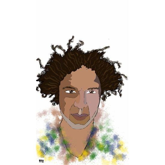 Self portrait, drawn on my phone. Sketchbookmobile Popart Kunst Drawing Art
