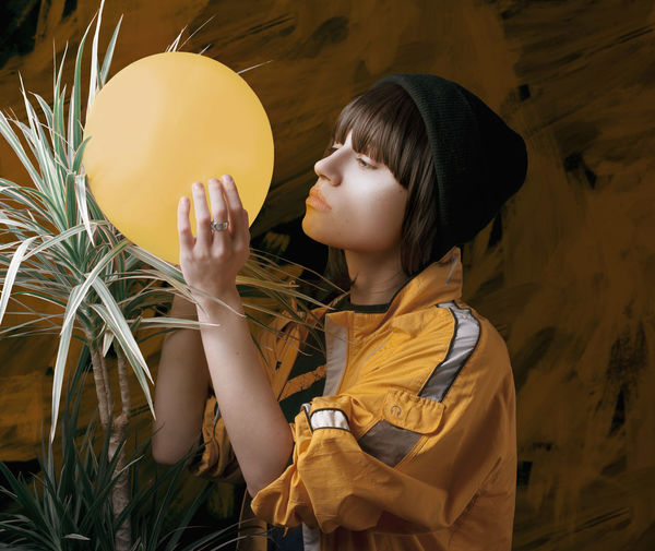 TEST Astronomy Balloon Boys Childhood Close-up Girls Headshot Holding Indoors  Lifestyles Night One Person Real People Side View Space