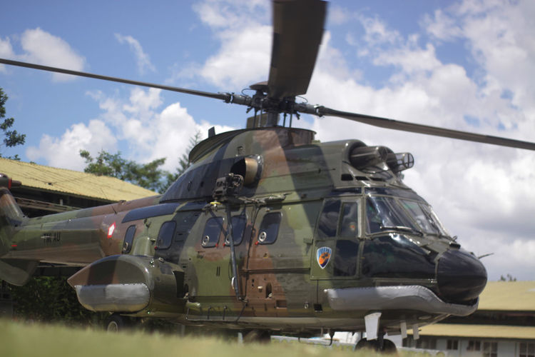 Airplane Armed Forces Army Army Indonesia Cloud - Sky Helicopter Militar Military Military Airplane Military Indonesia Outdoors Plane Sky Travel