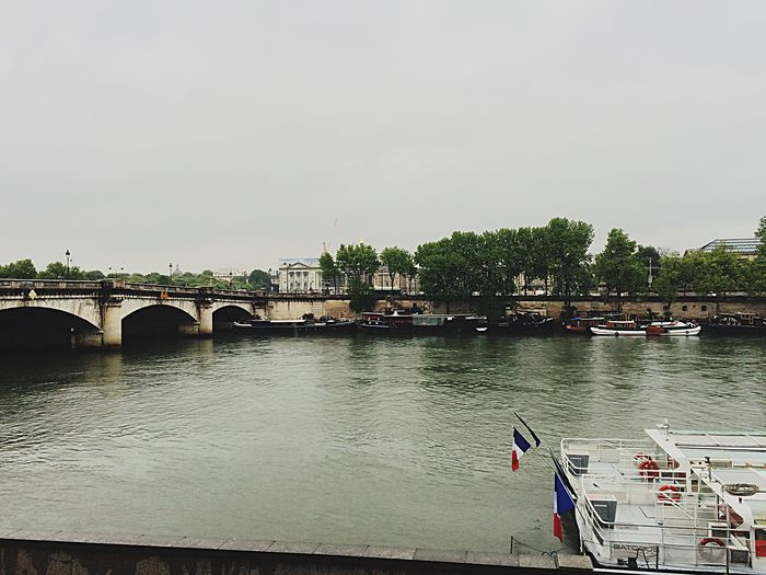 Seine Senna Seine Paris Rainy Days Clouds City Trip