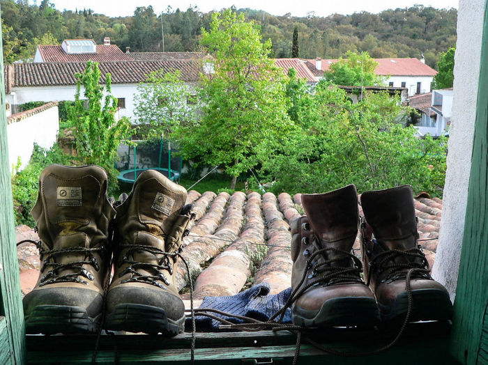 After a long day's trek it was lovely to take off our boots Boots End Of The Walk Rest SPAIN Travelling Trekking TrekkingDay Walking Boots Two Is Better Than One