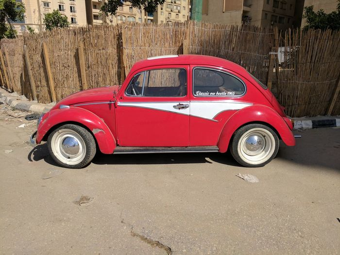 Bettles Car Maadi Red Streetphotography Summer Volkswagen Volkswagen Beetle White