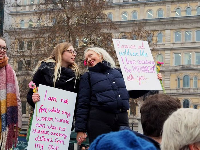 Womens March. London. 19/01/2019 Equality Womens March Womens March 2019 Womens March London Protesters Protest London News Stevesevilempire Steve Merrick OM-D Olympus LONDON❤ Text Women Architecture Communication Two People Adult Females