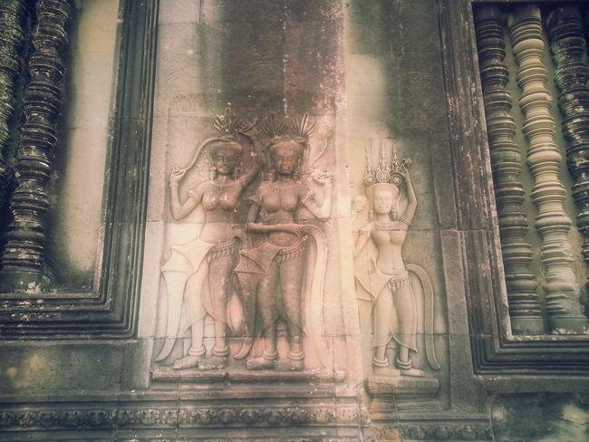 Architecture Close-up Cultures Sculpture Stucco Cambodia Siamreap Apsaras