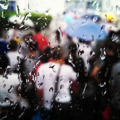 Rainny Drops People Clearly window