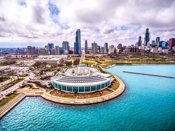 The Shedd Built Structure Architecture Building Exterior City Building Office Building Exterior Skyscraper Sky Landscape Urban Skyline Travel Destinations Cityscape Cloud - Sky Water Nature Modern Residential District Tower No People Tall - High Outdoors Financial District  Swimming Pool